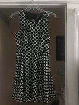 Like New!  Black White Polka Dot Sleeveless Dress -Sz Small in Naperville, Illinois