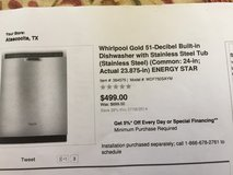 Whirlpool dishwasher in Kingwood, Texas