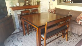 LIKE NEW TABLE AND CHAIRS/BENCH in Vista, California