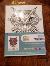 Owl canvas painting kit in Travis AFB, California