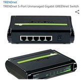 NEW 5 Port Gigabyte Switch TRENDnet GREENnet model network Internet Ethernet networking device in Glendale Heights, Illinois