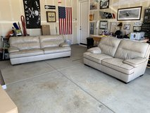 Very nice soft leather couches (2 years old) in Travis AFB, California