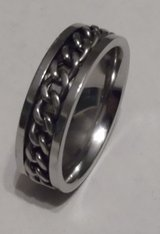 Size 15 Wedding Band Stainless New in Baytown, Texas