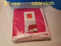 Pink table cloth in Fairfield, California