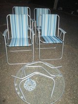 GARDEN GLASS TABLE AND 4 CHAIRS in Lakenheath, UK