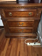 Queen size sleigh bed. Big dresser and two end night stands. in Okinawa, Japan