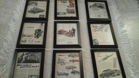 Vintage  '51 Magazine  Advertisement  Ads Auto/Cars Related (9) Framed Pictures in Naperville, Illinois