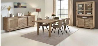 United Furniture - Retro Dining set with China + Table 160 + 4 Chairs + delivery in Wiesbaden, GE