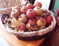 Brown Wicker Basket With Decorated Fruit. in Alamogordo, New Mexico