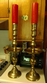 1960's huge brass candle holders in Warner Robins, Georgia