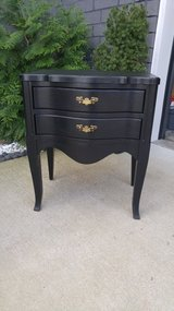 Heavy solid wood end table in Fort Campbell, Kentucky