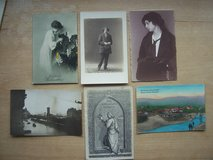 6 very old German postcards (unused) in Grafenwoehr, GE