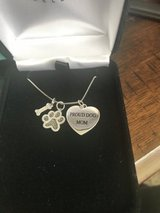 """Proud Dog Mom"" Black Diamond Necklace Silver in Fort Campbell, Kentucky"