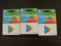 $100.00 Google Play Gift Cards in Travis AFB, California