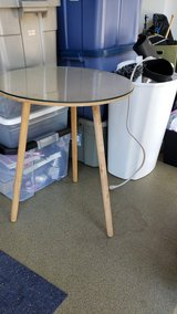 round accent table with glass top in Naperville, Illinois