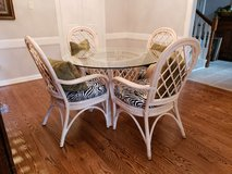 Vintage Benchcraft Rattan Dining Set in Kingwood, Texas