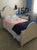 Girls Twin Slat Bed with Nightstand in Naperville, Illinois