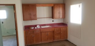 vintage kitchen cabinets sink and countertop in 29 Palms, California