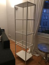 White metal and glass IKEA cabinet in Stuttgart, GE