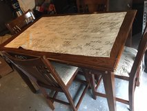 Solid wood Tall Table with 4 Chairs in Kingwood, Texas