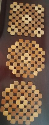 3 Wooden trivets (counter protector for hot pots/plates) in Alamogordo, New Mexico