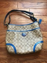 Blue and Tan Coach Purse in Glendale Heights, Illinois