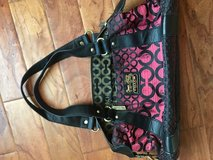 Pink and Black Coach Purse in Naperville, Illinois
