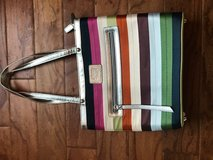 Multicolored Stripped Coach Purse in Glendale Heights, Illinois