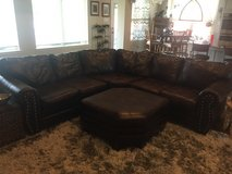 Large Leather Sectional Couch in Kingwood, Texas