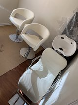 shampoo unit and two hydraulic haircut chairs in Westmont, Illinois