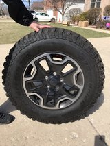 2016 Jeep Wrangler Rubicon Hard Rock Edition tires and wheels. in Batavia, Illinois