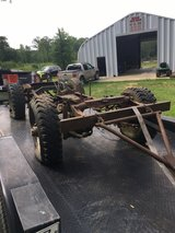 1941 Jeep frame in Leesville, Louisiana