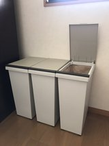 Trash Cans Set of 3 in Okinawa, Japan