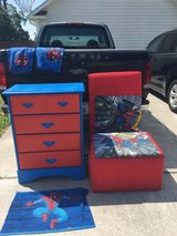 Spider-Man Headboard, Toy Box, and matching dresser in Camp Lejeune, North Carolina