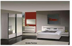 United Furniture - Elizabeth/Greta Torino US Full Size Bed Set as shown with wardrobe $1710 in Wiesbaden, GE