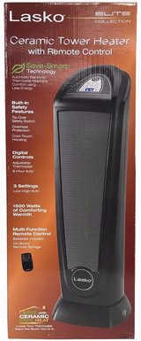 New! Lasko Elite Collection Digital Ceramic Tower Heater w/ Remote in Chicago, Illinois