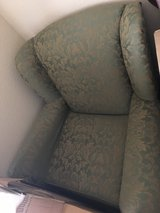 GREEN SOFA CHAIR - EXCELLENT CONDITION in Kingwood, Texas