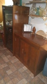 $30 Today-Nice Vintage Solid Wood Tiger Oak Entertainment Center in Pasadena, Texas