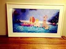 Disney framed art print Lady and the Tramp in Wheaton, Illinois
