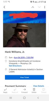 Hank Williams Jr Tickets in Travis AFB, California