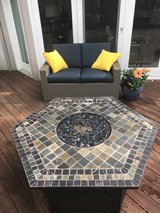 Wicker Couch and Firepit  Purchased in 2017 in Bartlett, Illinois