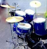 $180 FULL complete drumset w/extra cymbals/seat in Joliet, Illinois