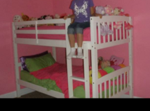 White twin bunk bed in Camp Lejeune, North Carolina