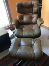 leather chair and foot stool in Glendale Heights, Illinois