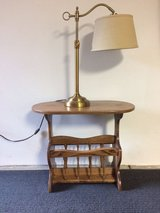 SOLID OAK TABLE AND LAMP in Tinley Park, Illinois