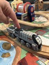 Talking Spencer Train car with coal car (from Thomas the Train set) in St. Charles, Illinois