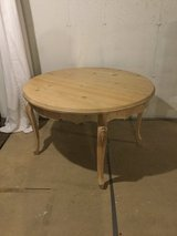 Natural Finish Round Table in Batavia, Illinois