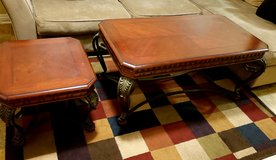 Coffee table and end table in Vista, California