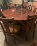 Dining Table and 6 Chairs (includes a leaf) in Batavia, Illinois