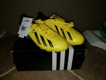 Brand New Yellow Addidas Cleats - Youth/Juniors Size 5 in Travis AFB, California